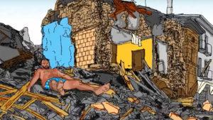 La protesta a dieci mesi dal sisma - Video vignetta - Impronte Grafiche