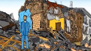 La protesta a tre mesi dal sisma - Video vignetta - Impronte Grafiche