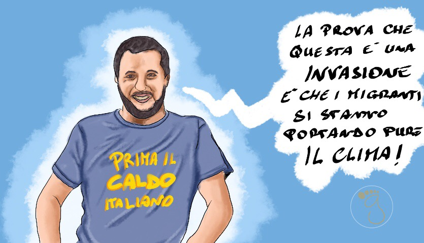 L'invasione dei migranti vista da Salvini
