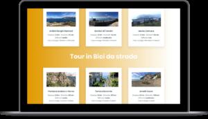 Enjoy Bike Sorrento - Sito web responsivo - Vista da tablet