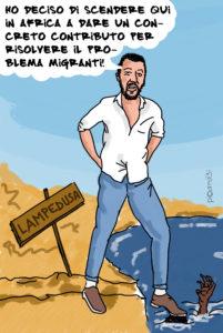 Salvini risolve la vicenda dei migranti